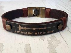 Soundwave Bracelet Coordinate Bracelet for Him by tovvanda on Etsy