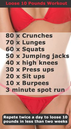 Give this routine a go for two weeks and notice a difference. Combine exercise with healthy eating for best results