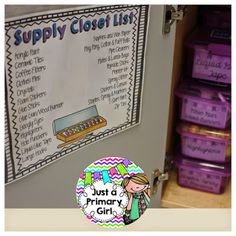 Monday Made It - Rewind Supply Closet list for everything that is only in that closet. Wonderful!