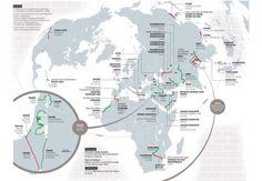 CARTOGRAPHIE • La carte des murs du monde | Courrier international
