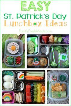 Fun & Easy St. Patrick Day School Lunch Ideas ---- FamilyFreshMeals.com