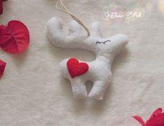 Christmas ornament felt Reindeer-felt Rudolph by Elaine2412