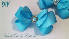 Bow of Grosgrain ribbons  with your hands - YouTube