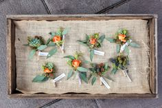 Orange boutonnieres make a subtle statement Photography By / robinoneillphotography.com, Wedding Planning   Styling By / spreadloveevents.com, Floral Design By / celsiaflorist.com