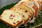 Coconut-Cranberry Poundcake with Coconut Glaze