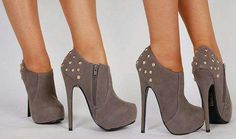 Cute high heel ankle boots