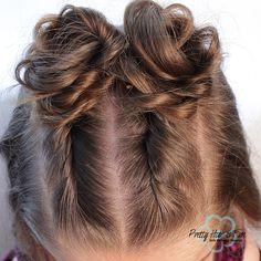 Princess Hairstyles, Bun Hairstyles, Pretty Hairstyles, Twist Bun, Twist Braids, Top Knot, Back To School Hairstyles, Wand Curls, Braided Ponytail