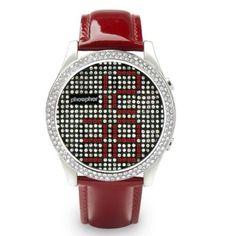 Reloj Phosphor Appear Rojo Swarovski  Ref: PHMD002L  Reloj Phosphor Appear, Esfera con Cristales Swarovski con Tecnología Micro Magnética Mecánica Digital M3D y Correa de Charol roja.  http://www.tutunca.es/reloj-phosphor-appear-rojo-swarovski