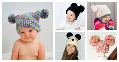 Simple hats and beanies are very popular. These Double Pom Pom Hat Free Crochet Patterns are perfect for beginners to make.