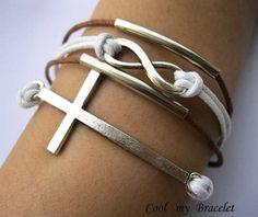 Bracelet infinity braceletcross Braceletwax by Coolmybracelet, $3.99