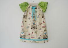 Bird & Butterfly Peasant Dress 4-6 years | Felt