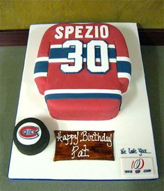 canadiens cake CLICK THIS PIN if you want to learn how you can EARN MONEY while surfing on Pinterest Hockey Birthday, Adult Birthday Cakes, Birthday Ideas, Stiff Buttercream Frosting Recipe, How To Use Fondant, Hockey Cakes, Ludo, Mom Cake, Sport Cakes