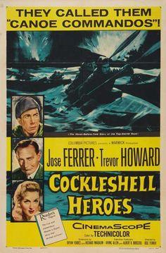 """""""El Infierno de los Héroes"""" (1955) es una estupenda película de comandos, protagonizada por  José Ferrer y Trevor Howard. Basada en una misión bélica denominada """"Operation Frankton""""."""