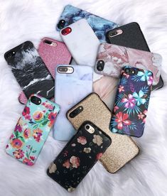 Cases on Cases Shop Marble, Floral & Glam Cases for 7 & iPhone 7 Plus from Elemental Cases Cute Cases, Cute Phone Cases, Iphone Phone Cases, Amazing Phone Cases, Iphone 100, Iphone Cases For Girls, Iphone 7 Plus Cases, Apple Coque, Telephone Iphone