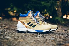 """adidas ZX Flux Winter Boot """"Sand"""": The ZX Flux gets re-engineered for the outdoors. Adidas Zx Flux, Derby, Adidas Sneakers, Shoes Sneakers, Men's Shoes, Adidas Originals Zx Flux, Fly Shoes, Shoes World, Latest Sneakers"""