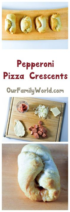 Looking recipes for dinner or back to school lunch ideas your kids will love? These pepperoni pizza crescents are fast and delicious! Check them out!