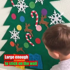 Newest Images DIY felt christmas Strategies Experts found that Christmas woods and fun food may cause fevers and sensitivity responses in lots Diy Felt Christmas Tree, Christmas Games For Kids, Diy Christmas Tree, Gifts For Kids, Christmas Decorations, Christmas Ornaments, Felt Diy, Felt Crafts, Diy Crafts