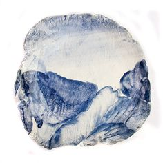 unconventional shape. using ceramic material as a canvas. abstract form and painting. (Ruan Hoffman)