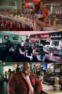 i wanna go to this diner...Celo can leave if he wants<<<hahaha<<< Okay who just realized that Cher Lloyd and One Direction filmed the same diner?
