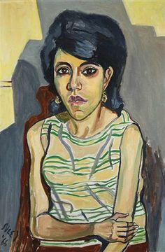 Alice Neel, Untitled (portrait of Sarah Elizabeth Hewitt, niece of Lida Moser), 1966 on ArtStack #alice-neel #art