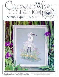 Snowy Egret - Cross Stitch Pattern