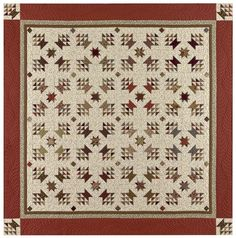 Designed by: Red Crinoline Quilts (Formerly Bonnie Blue Quilts). This pattern is titled: Baskets of Plenty - Inspired by an Antique Quilt Finished quilt size: x . Sampler Quilts, Star Quilts, Scrappy Quilts, Quilt Blocks, Two Color Quilts, Blue Quilts, Antique Quilts, Vintage Quilts, Fat Quarter Quilt