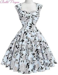 Belle Poque Women Summer Vintage 50s Dresses Audrey Hepburn Elegant Floral Vestidos Plus Size robe Sexy Pin up Rockabilly Dress