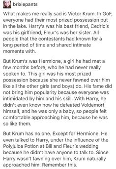 Viktor Krum, Harry Potter, hp