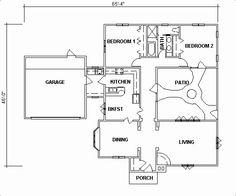 Casa 2 quartos e patio interior