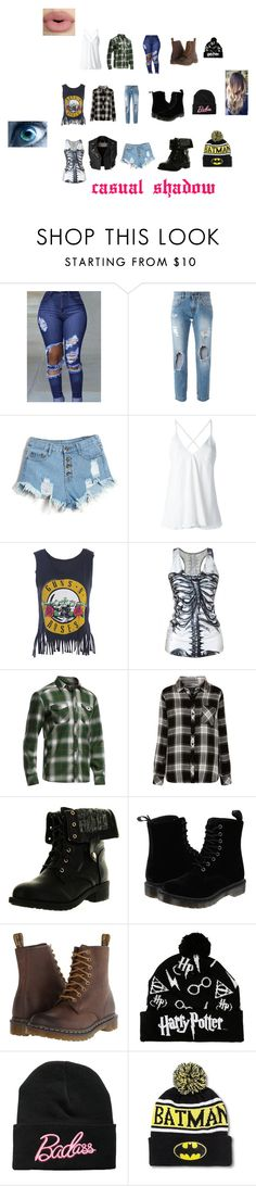 """""""Casual Shadow"""" by shadow-lokidottir ❤ liked on Polyvore featuring Dolce&Gabbana, Dondup, Icebreaker, Rails, Burberry, Refresh, Dr. Martens and Sephora Collection"""