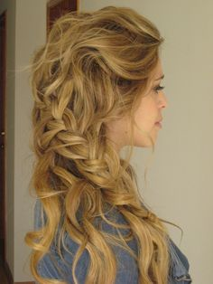 Very cute boho #hair style for #prom! Description from pinterest.com. I searched for this on bing.com/images