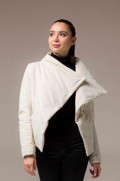 Куртка Утепленная Демисезонная Моделируемая Бежевая Spring Jacket Cream в магазине «McNeedle» на Ламбада-маркете