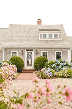 Cape Cod Hydrangea Season: When to Go Nantucket Cottage, Cape Cod Cottage, Nantucket Style Homes, Coastal Style, Cape Cod Exterior, Cottage Exterior, Cape Cod Siding, Estilo Cape Cod, Hydrangea Season
