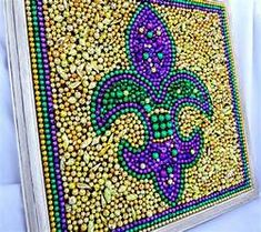 mardi gras bead art - Yahoo Image Search Results
