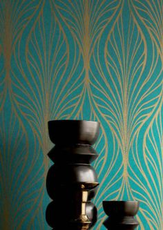 1000 images about wallpaper on pinterest hexagons - Papiers peints des annees 70 ...