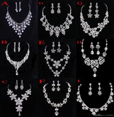 Crystal Bridal Jewelry Wedding Accessories Sets Two Pieces Silver Color In Stock Rhinestone Wedding Dress Necklace Earrings 2015 Butterfly Hair Accessories Cheap Wedding Hair Accessories From Xzy1984316, $6.04| Dhgate.Com