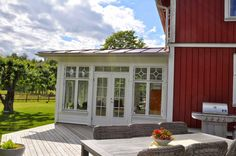 Tove mishmash: What are the child named . Outdoor Rooms, Outdoor Living, Glass Porch, Red Houses, Barn Kitchen, Garden Entrance, Screened In Patio, Red Cottage, Weekend House