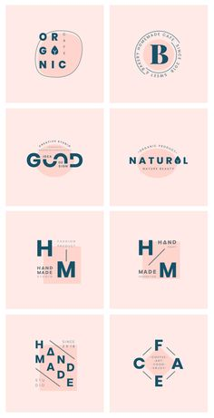 Vector set of logo badge design Corporate Branding, Self Branding, Logo Branding, Illustration Simple, Type Logo, Inspiration Logo Design, Logo Simple, Typographie Logo, Minimal Logo Design