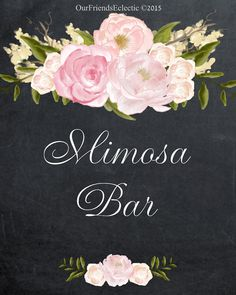 printable mimosa Bar sign digital mimosa by OurFriendsEclectic