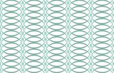 O Ring Stripe Aqua fabric by littlerhodydesign on Spoonflower - custom fabric