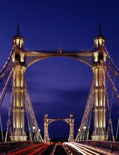 Albert Bridge, London, England.