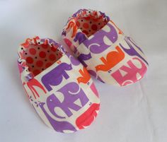 SO cute!! Eleanor Elephant reversible shoes by weepereas via Etsy.