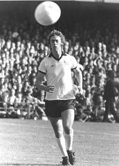My first football hero - Charlie George, playing for Derby County. Everyone remembers him from his Arsenal days. I don't.