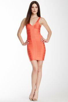 Foxy Faye Strappy V-Neck Dress by French Connection