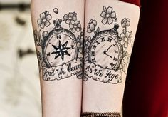 Compass tattoos are not common, but they can hold symbolic value. Learn about compass tattoos, compass tattoo designs, compass tattoo meanings, and compass tattoo ideas. Compass tattoo pictures also. Tattoos Infinity, Wrist Tattoos, Tribal Tattoos, Tattoo Arm, Thigh Tattoos, Tatoos, Couples Tattoo Designs, Tattoo Designs For Women, Tattoos For Women