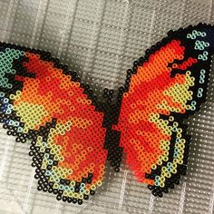 Butterfly perler beads by perlermom