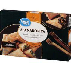 Αποτέλεσμα εικόνας για spanakopita packaging Creamy Cheese, Spinach And Cheese, Frozen Appetizers, Yeast Extract, Phyllo Dough, Good Sources Of Protein, Wheat Gluten, Just Bake, Milk Protein
