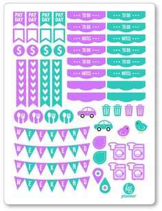 April Monthly Matching ECLP Set Planner Stickers