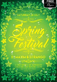 Spring Festival Free PSD Flyer Template - http://freepsdflyer.com/spring-festival-free-psd-flyer-template/ Enjoy downloading the Spring Festival Free PSD Flyer Template by Elegantflyer! #Club, #Dance, #Event, #Girls, #Music, #Night, #Spring