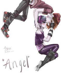Anna Blue and Damien Dawn  'angel' by LAG015